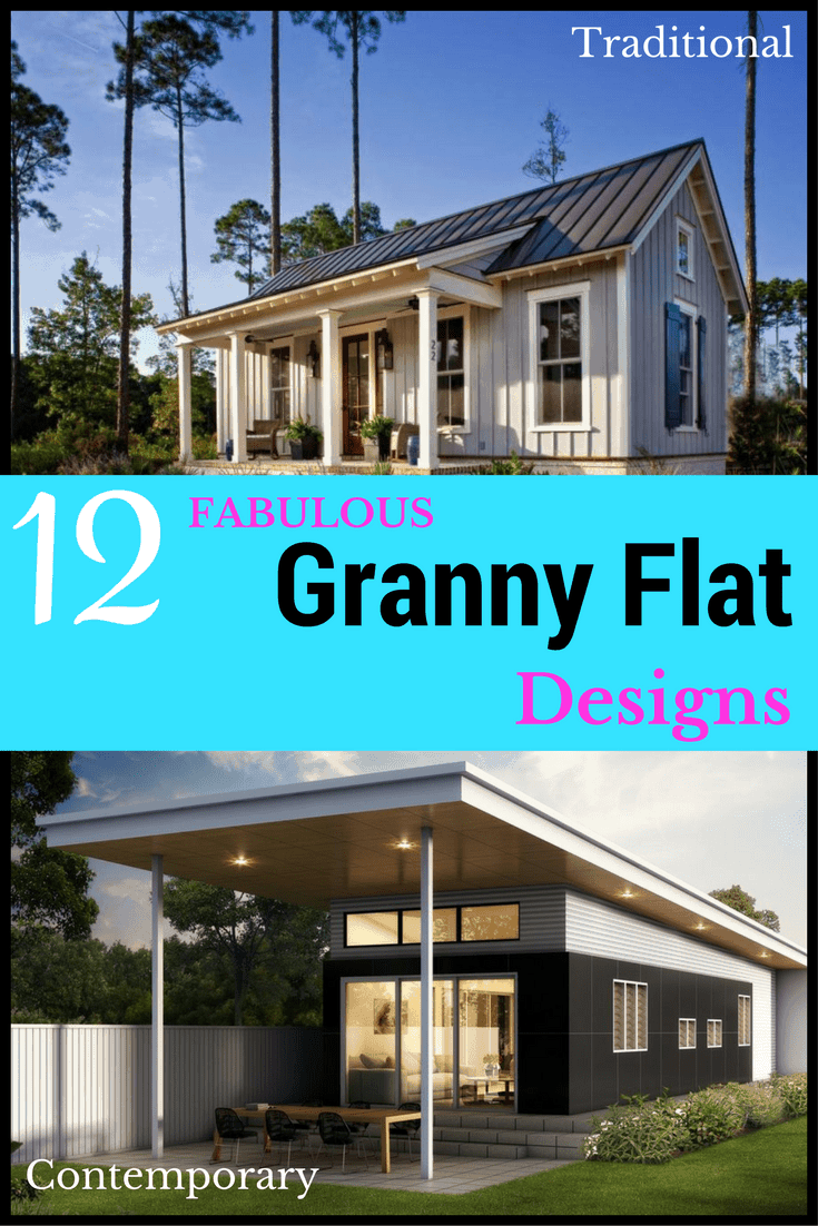 what is a granny flat collage graphic
