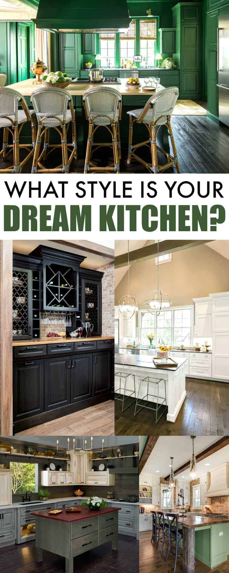 Wellborn Cabinets dream kitchen collage with a series of beautiful kitchen photos